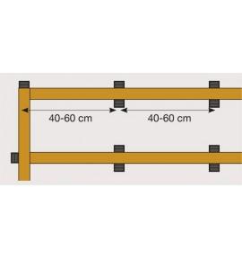 Cales crantées réglables 13-18 mm Nivo
