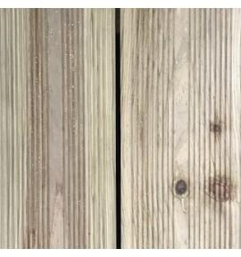 Lame de terrasse 2400x145x022 mm en pin strié autoclave