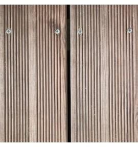 Lame terrasse en pin marron strié 2,40 m