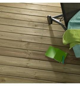 Lame de terrasse 145 x 27 mm en pin lisse