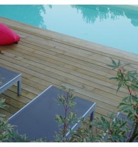 Kit terrasse 50m² en pin lisse
