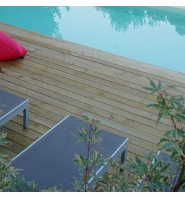 Kit terrasse 15m² en pin lisse