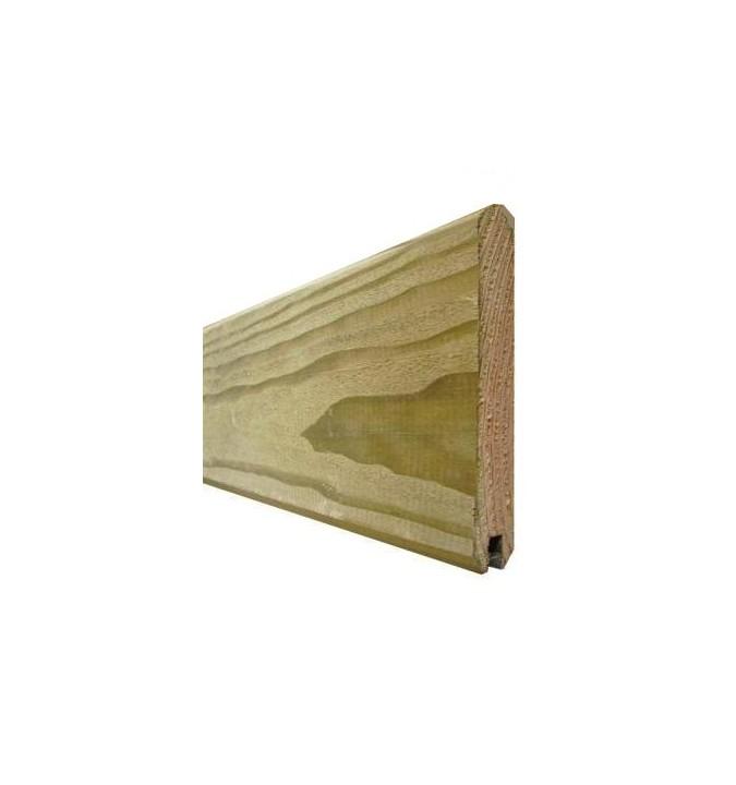 Lame de finition 1,95 m pour clôture bois autoclave