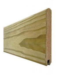 Lame de finition 1,95 m pour clôture bois à emboiter