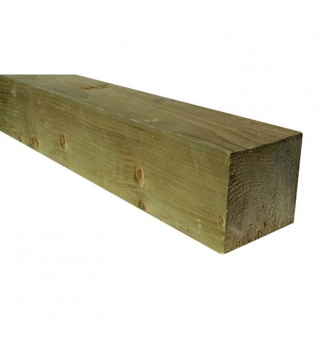 poteau trait classe 4 pour palissade en bois kultur bois. Black Bedroom Furniture Sets. Home Design Ideas