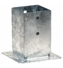 Pied de poteau carré 9x9 sur platine