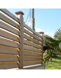 Clôture persienne en bois autoclave