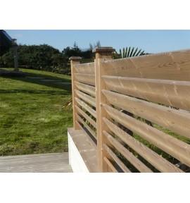 Poteaux rainurés pour clôture persienne