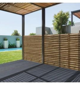 Lame de clôture bois persienne