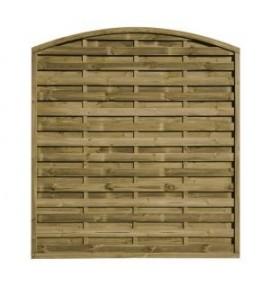 Panneau pare-vue en bois bombé 180x180 cm