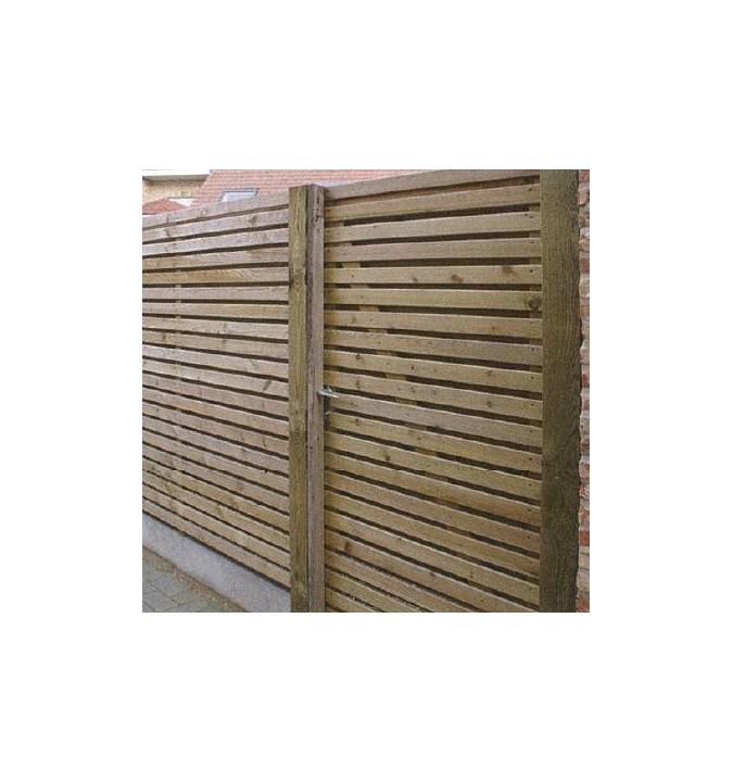 Portail de jardin Gardival - Portillon bois autoclave Strada 100x180cm