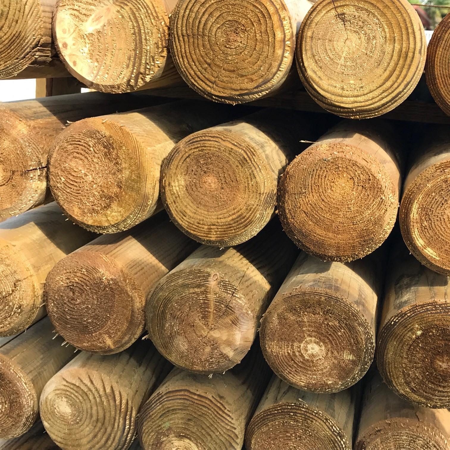 Bois Pour Exterieur Classe 4 rondin fraisé Ø 12 cm l. 2,00 m en bois autoclave   kulturbois