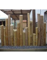 Kit clôture rondins bois 1 ml