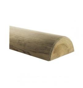 Demi rondin Ø8 long. 2,40 m en bois autoclave