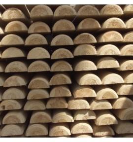 demi rond de bois diamètre 8 cm