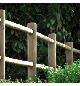 Rondin 2 perçages 14x150 cm en bois autoclave