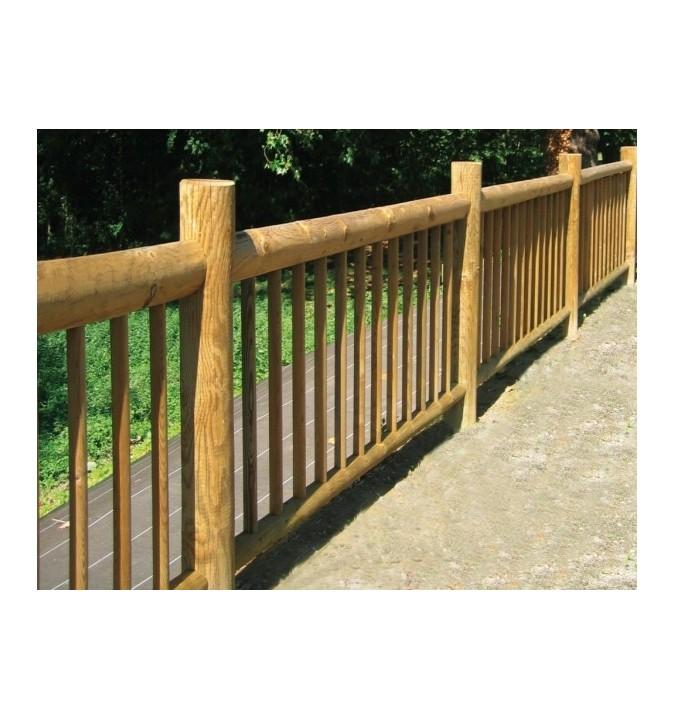 Barrière 90x200 cm en rondins de bois autoclave