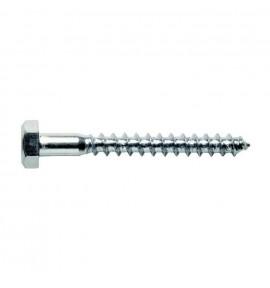 Tirefond 10X120 mm acier zingué DIN 571