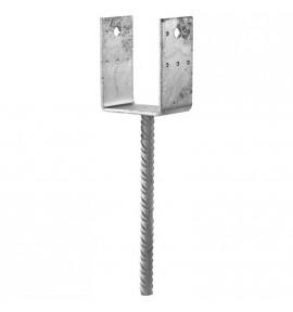 PPD SIMPSON - Pied de poteau en U avec tige 80X70 mm