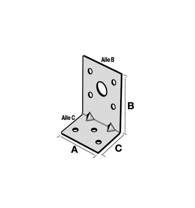 Equerre d'assemblage 40x50x30 mm EA534/2