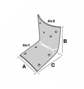 Equerre pour bois rond de 80 à 140 mm de diamètre
