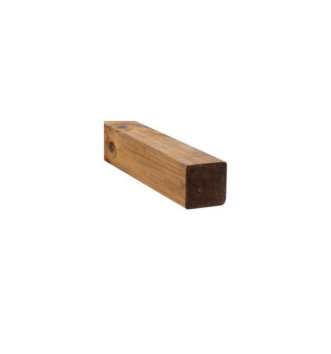 Poteau marron 9x9x200 cm en bois autoclave