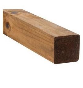 Poteau bois lisse marron 9x9x240 cm