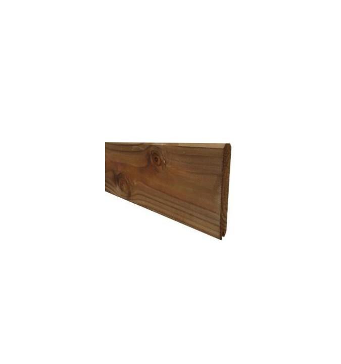 Lame de finition 2400x150x25 pour palissade bois marron