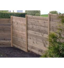 Kit clôture bois 10 ml prêt à monter