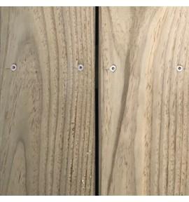 Lame terrasse lisse 145x27 mm L. 2,40 m en pin Classe 4