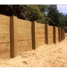 Poteau 1000x15x15 mm pour mur de soutènement bois