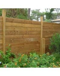 Kit clôture bois 10 ml en pin traité autoclave marron