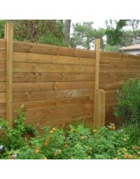 Kit clôture bois 20 ml en pin traité autoclave marron