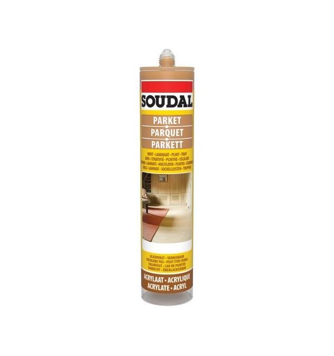 Mastic acrylique pour parquet chêne clair SOUDAL 290 ml