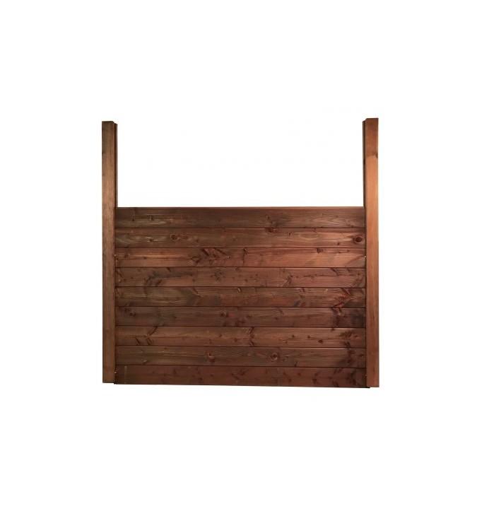 Kit clôture 4 ml en bois autoclave teinté marron