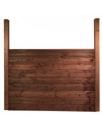 Kit clôture bois 4 ml en pin traité autoclave marron