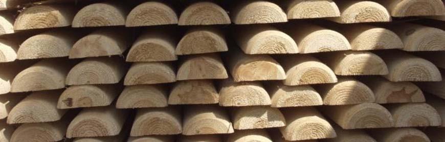 Demi-rondins bois autoclave