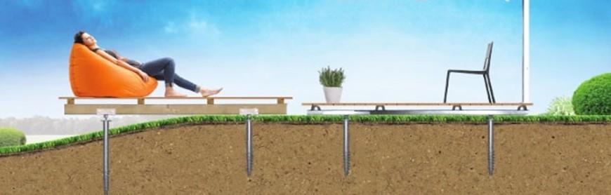 Vis de fondation pour terrasse