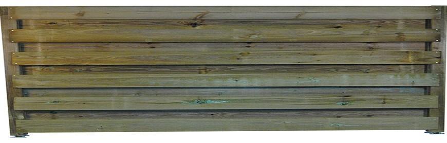 Clôture bois horizontale