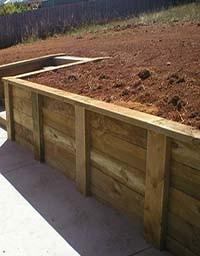 mur de sout nement en bois pour retenues de terre kulturbois